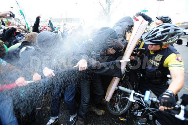 Photo by @AlexMilanTracy: Portland anti-austerity demonstrators pepper sprayed by police on November 3rd http://pic.twitter.com/xapr7zbZ