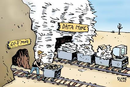 Image result for mining data cartoon
