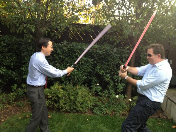 US CTO & CIO are real world Jedi! @todd_park & @stevenvDC #usetheforce to settle big tech debates http://pic.twitter.com/xNpw6ciV