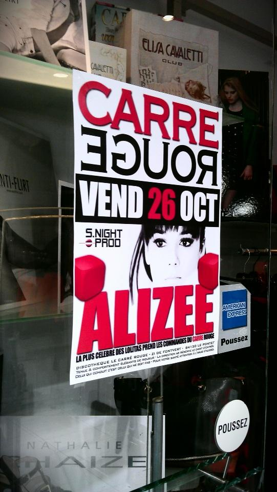 Alizée at Carré Rouge