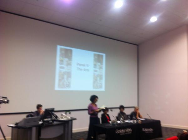 Arts: Aminatta Forna, Jo Melville, Patricia Cumper and Margaret Busby, chaired by Moira Stuart @DianeAbbott25 http://pic.twitter.com/CKjHY3QP