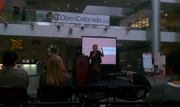 Denver Councilwoman Robin Kniech speaking at @CityCampCO #ccCO pic.twitter.com/oUVGakys