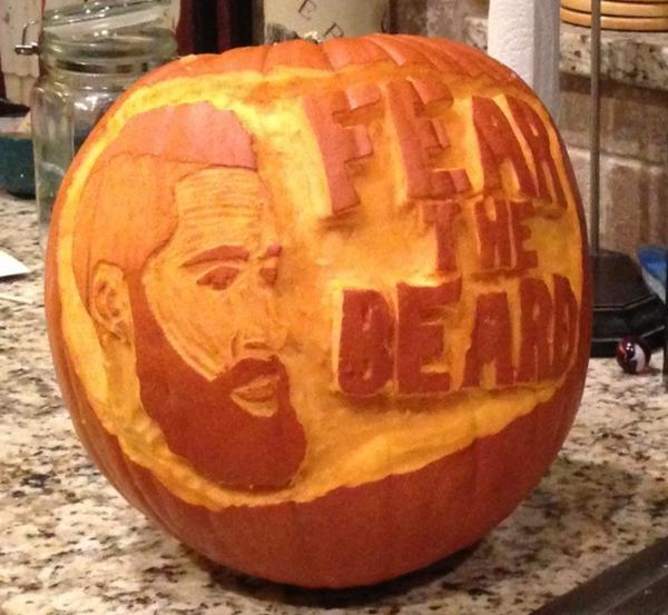 Someone carved James Harden into a pumpkin (Photo)