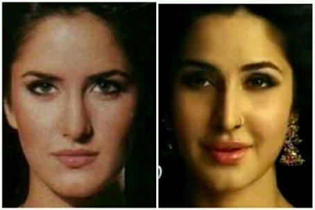 Pic of the Day 12   Katrina Kaif   Before and After