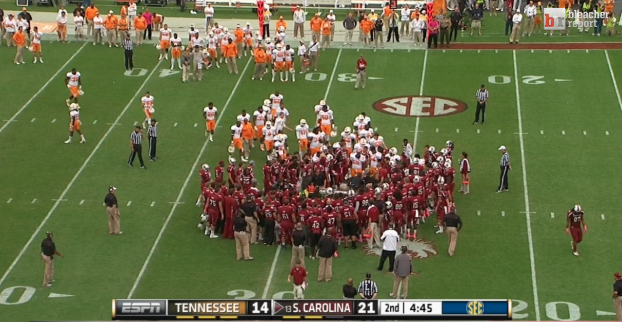 """Bleacher Report on Twitter: """"Tennessee and South Carolina ..."""