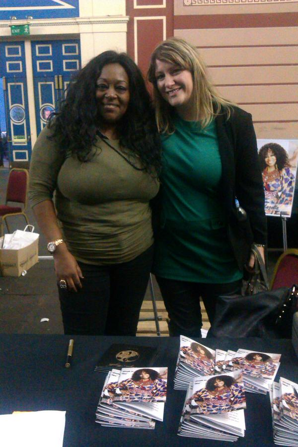 #W2W12 Kym Mazelle & I after chatting about when she tried singing worship songs at a club in Ibiza! Clubitup sista!