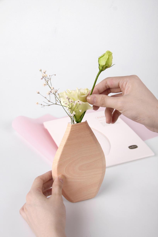Днем, вазочка из бумаги открытки