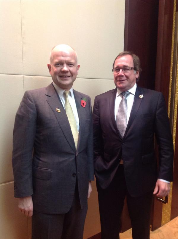 Excellent talks with Foreign Minister McCully at #ASEM in Laos. UK-NZ #foreignpolicy cooperation stronger than ever http://pic.twitter.com/H3rbO9Re