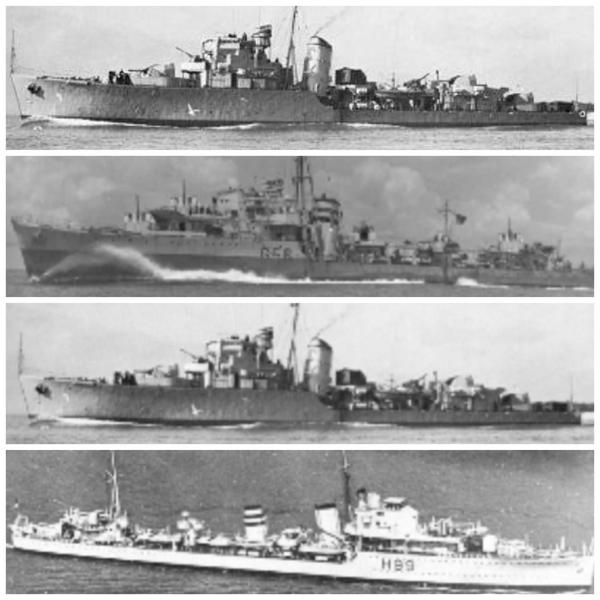 The 4 British ships took turns dropping dozens of depth charges as they tried to force the U-boat to surface #Grazier pic.twitter.com/sfsU8Oxp