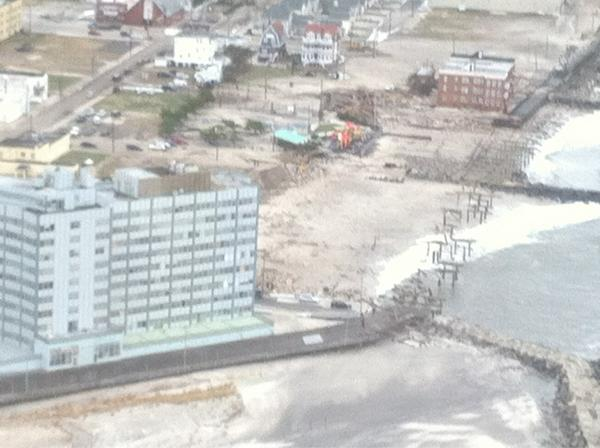 Wiped out portion of boardwalk in AC. #sandyNJ http://pic.twitter.com/E7BlVRWD