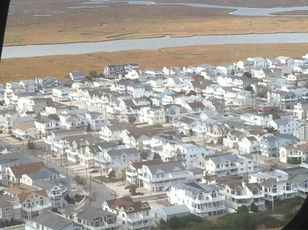 Looking down on Sea Isle, which fared much better than OC. #sandyinphilly http://pic.twitter.com/TPKEY9rE