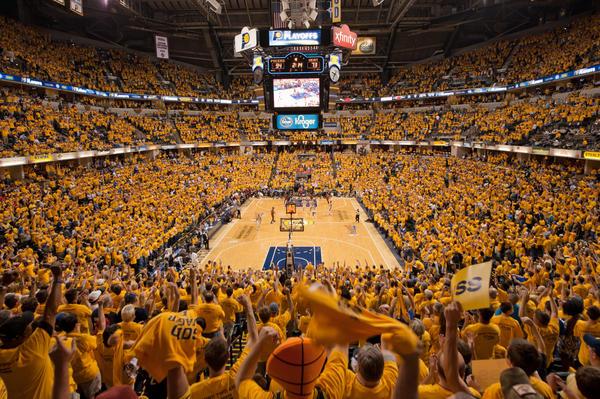 La cancha de Indiana Pacers, un auténtico fortín