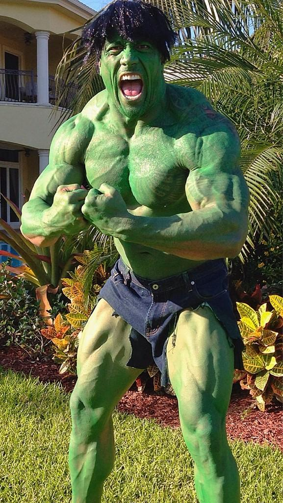 'Don't make angry. You wouldn't like me when I'm angry' ~ The People's Hulk #HappyHalloween http://t.co/pY7p6LnC