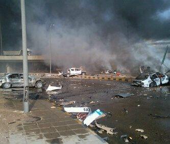 صور وفاة ومصابين انفجار شرق