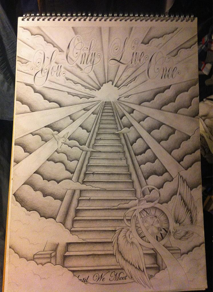 "Jay Hutton on Twitter: ""Stairway to heaven backpiece ..."