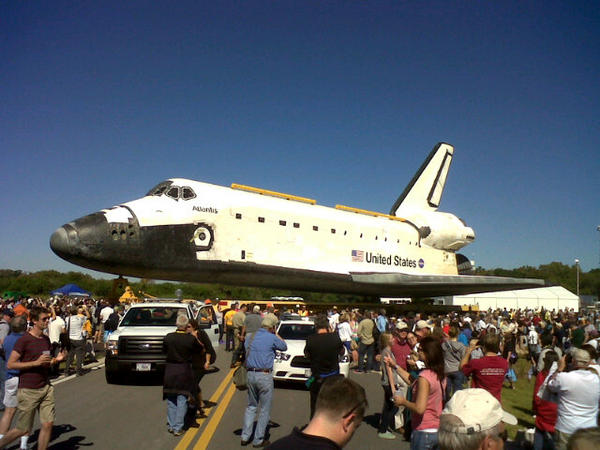 And there she is #Atlantis #NASASocial #OV104 http://t.co/gh0GHSo3