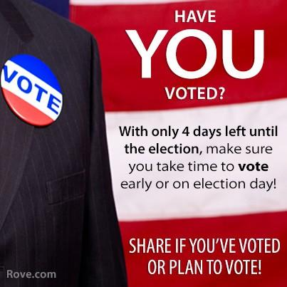 Perform your civic duty by exercising your right to vote. RT If you have voted or plan on voting! http://t.co/cZBTNLq3