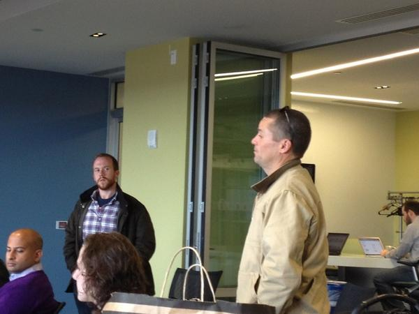 .@hardebeck and @brianjameskirk at the Science Center. Sharing ideas. #GOATPhilly http://pic.twitter.com/x2Y6BBbw