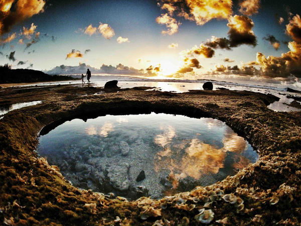 GoPro On Twitter Photo Of The Day Gavin Beschen And His Daughter Tidepooling At Sunset By Dune Newhouse POD Hawaii Tco R95PDtym