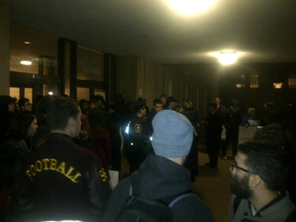 "At the Anti-Sexism Rally at UofT. Blockading the ""Men's Equality Group"". Calling out bullshit for what it is. http://pic.twitter.com/ClxkBTGi"