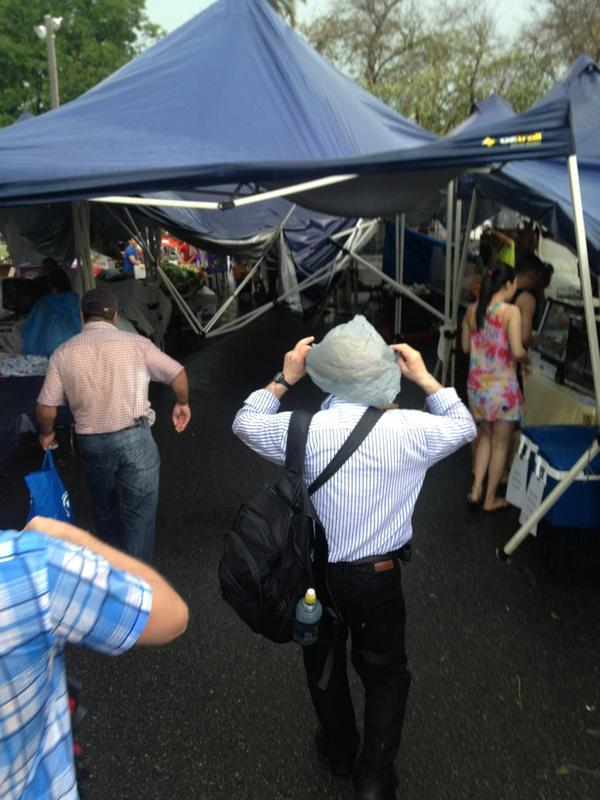 Aftermath at the west end markets @scroftpf @mcroft91 @croftyk7 #brisbanestorm http://pic.twitter.com/lSeyN5Mq