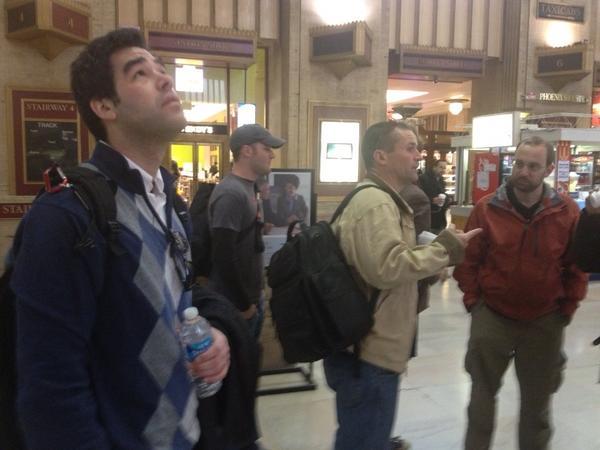 #GOATphilly. Daniel and Jason loving 30th street station http://pic.twitter.com/gxXzluFU