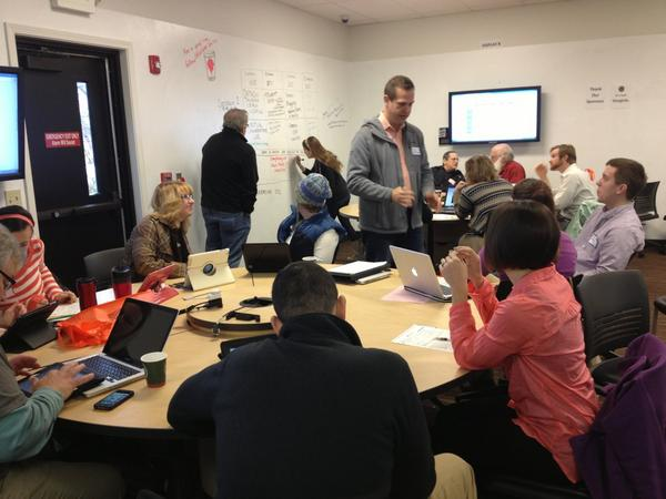 RT @techwithintent: After a full work week, #teachers head to #edCampSeattle to continue refining their craft. #eduAwesome http://pic.twitter.com/eN4mKI4K
