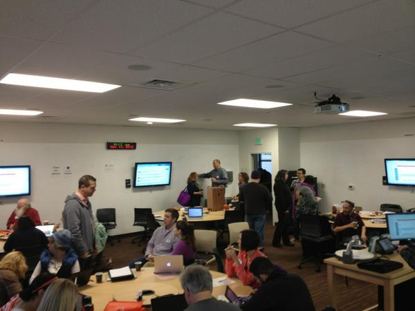 The room is all a buzz! #edcampseattle http://pic.twitter.com/lYuVpQvZ