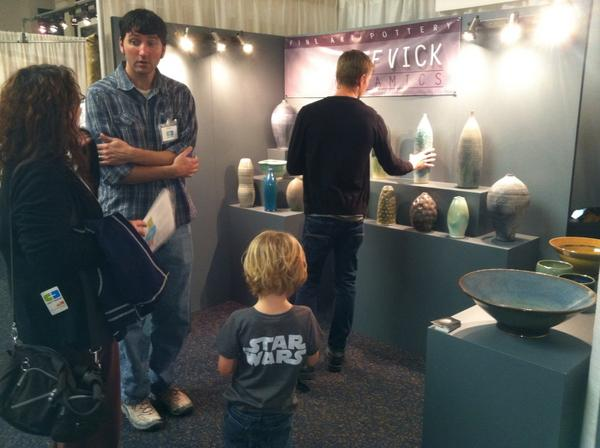 Visual Arts Center On Twitter Jeff Vick Ceramics Booth Is