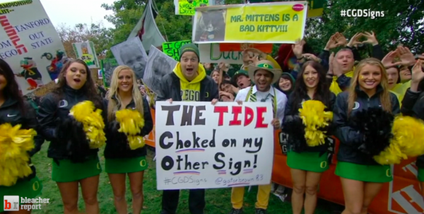 """The #Tide Choked on My Other Sign"" -- #GameDaySigns #CGDSigns http://pic.twitter.com/uLZFRIGc"