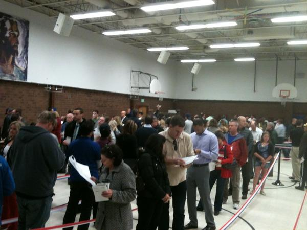 Colorado is awake --> RT @ryantnance: Election Day in Arapahoe County! http://pic.twitter.com/utWenddu #COPolitics