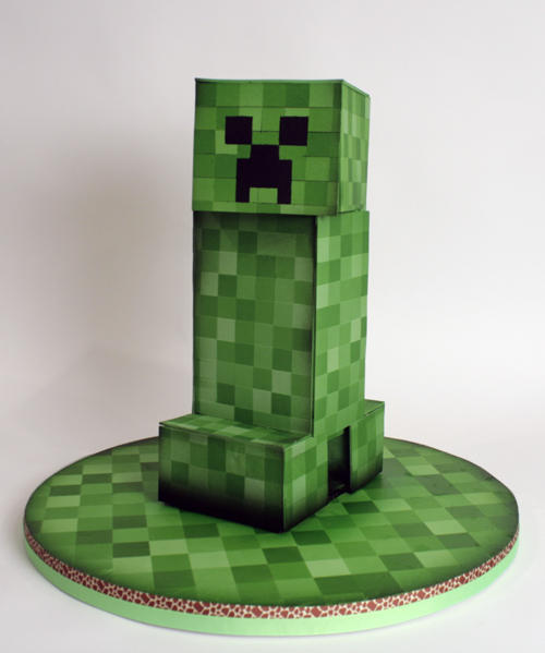 Excellent Charm City Cakes On Twitter Gabe Created This Minecraft Creeper Personalised Birthday Cards Paralily Jamesorg