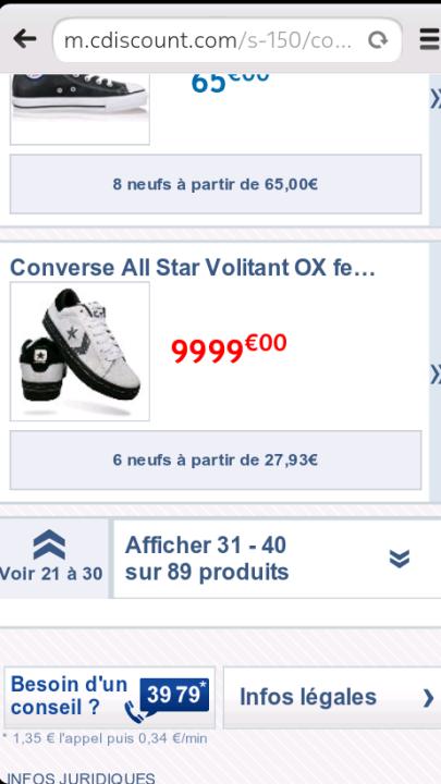 vente flash converse all star