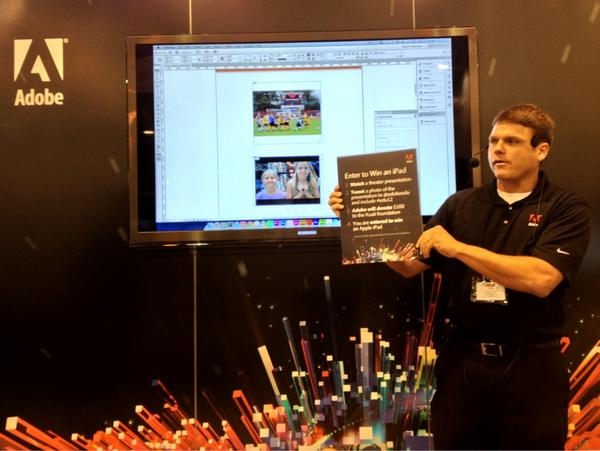 Just learned about Digital Publishing through InDesign and entered to win an iPad! @AdobeEdu #edu12 #amazing http://t.co/sGsSaJKM