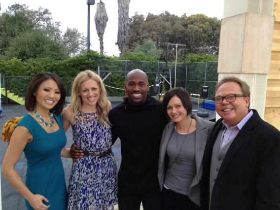 Me w/the other affiliate reporters and trainer Dolvette! Ladies, he tells me he's available for dates! http://pic.twitter.com/cWjDPOLI
