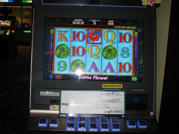 Fraser downs slots