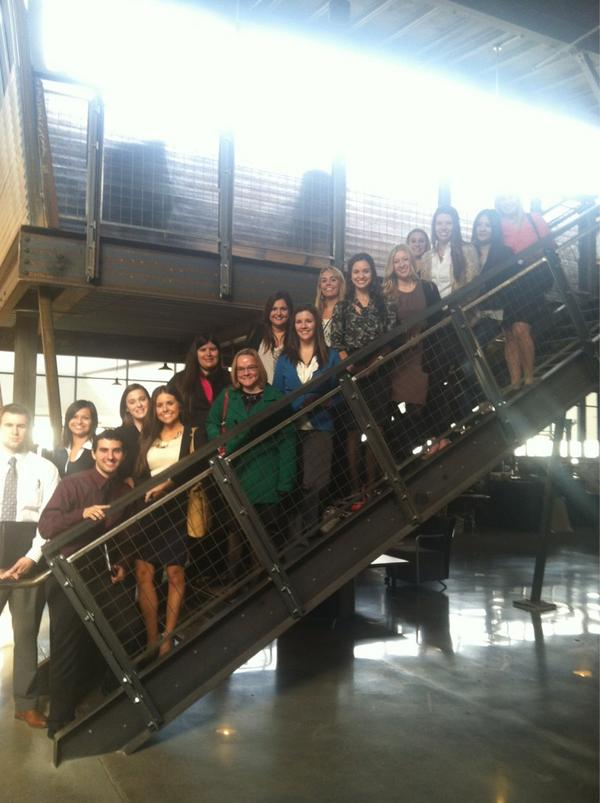PRSSA Members at Two Rivers Marketing