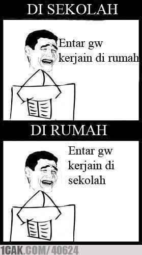 Meme Komik Indonesia On Twitter True Sekolah 1cak Http T Co