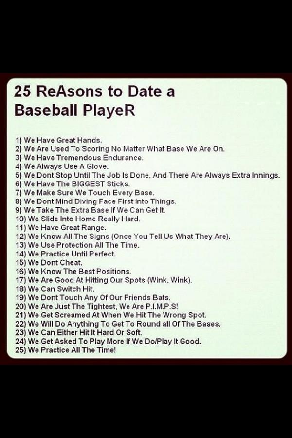 dating a baseball player