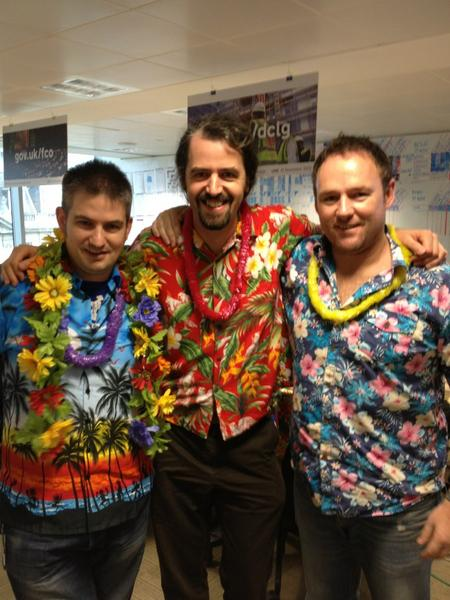 Sporting the hawaiian look at GDS