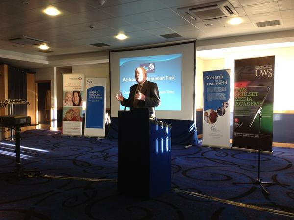Robert Craig, Scottish Football Museum Trust Chair, opens event. @Hampden_Museum a core part of the #memoriesfc project pic.twitter.com/t1aP7z7v