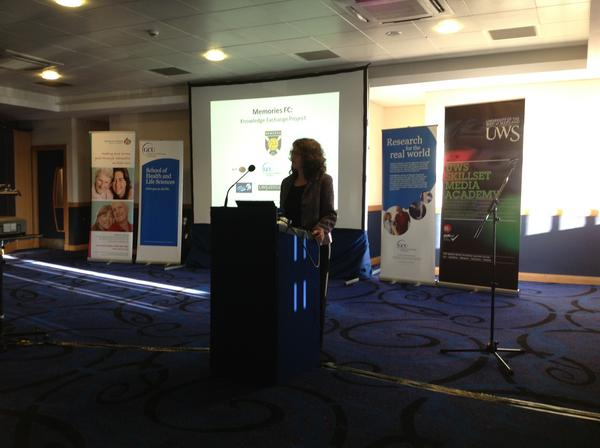 Prof Debbie Tolson @CaledonianNews now talking about the #memoriesfc project. A unique knowledge exchange venture pic.twitter.com/NuiPXXW8