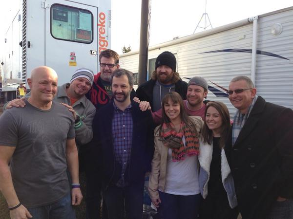 Thank you for a great day at the campout!!! @JuddApatow @robertirvine1 @Hartsy19 http://pic.twitter.com/PSRBX5K8