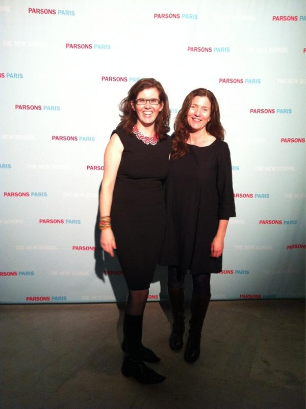 Bridget, Director of Parsons Europe and I at the #ParsonsParis photo wall @PalaisdeTokyo pic: http://pic.twitter.com/fjn4c5sg
