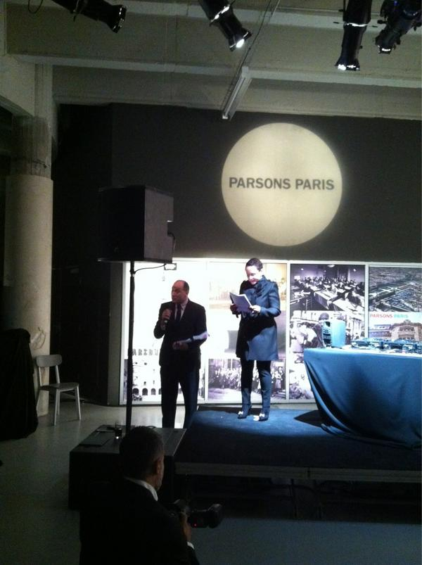 Remarks starting now with our board member, Sheila C. Johnson. #ParsonsParis pic: http://pic.twitter.com/Ig7AWaDO