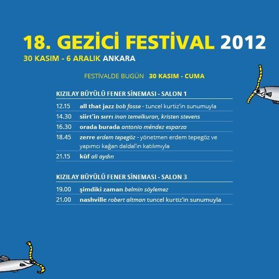 Gezici Festival - 30 Kasım Cuma