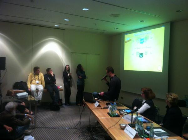 """From the """"Innovative uses of mobile in education"""" session #oeb12 http://t.co/trtH4cEk"""