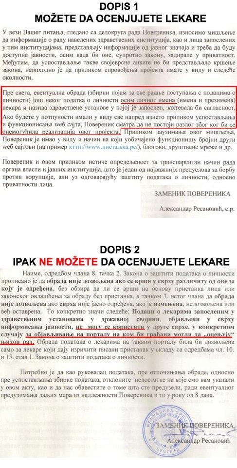 To ste naveli u prvom dopisu a kasnije menjate mišljenje verujemo pod pritiskom LKS @RodoljubSabic @torbica http://pic.twitter.com/ahUKf5gE