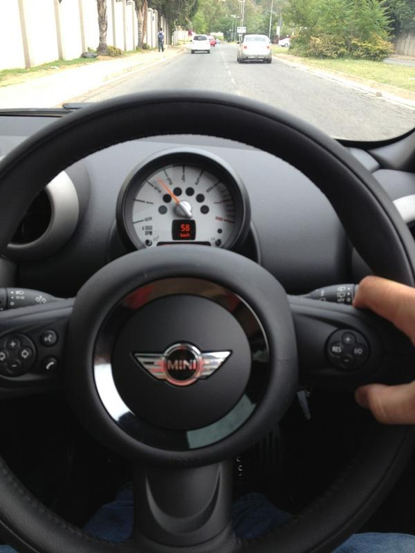 """@MINISouthAfrica: Where you off to? RT @IanFSA: Loving my new MINI Cooper S! @MINISouthAfrica  http://pic.twitter.com/vlyPKoW2"" Meetings meetings :-)"