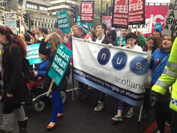 Scotland's students are leading this march, admirably too! #demo2012 http://pic.twitter.com/6W7HP6gW